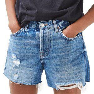 Topshop Ashley Ripped Boyfriend Shorts